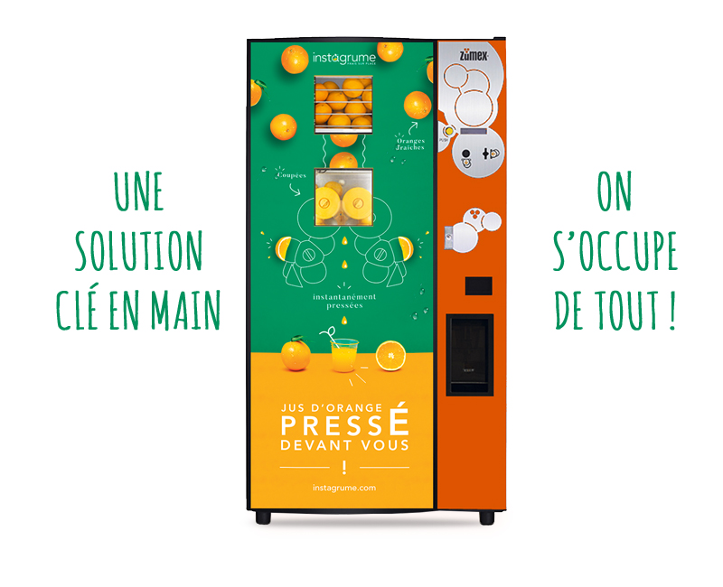 Distributeur automatique de jus d'orange